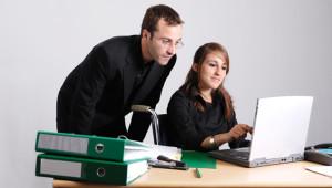 teacher and student laptop