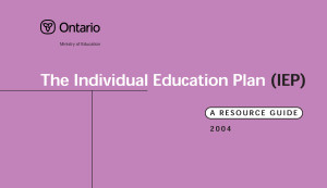 The Individual Education Plan (IEP) - Special Education