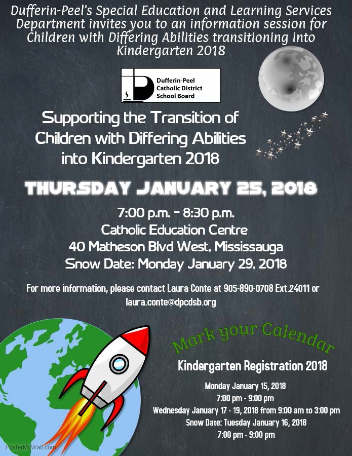 Final Transition into Kindergarten Info Session Flyer 2018